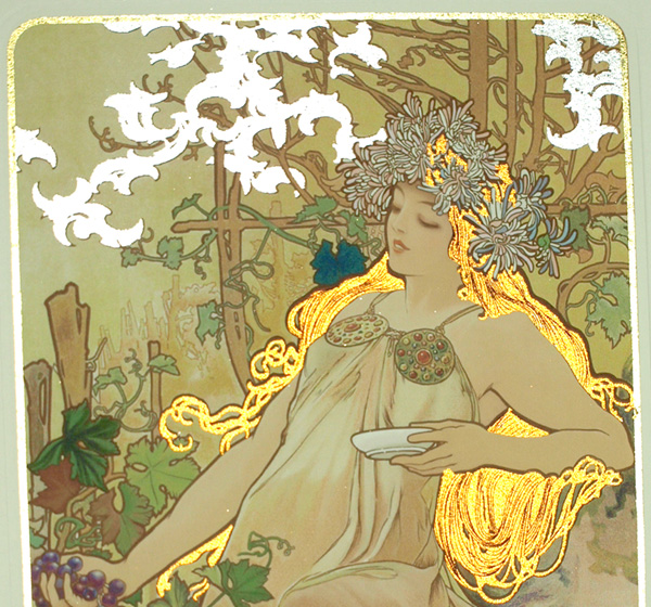 mucha「Autumn」箔